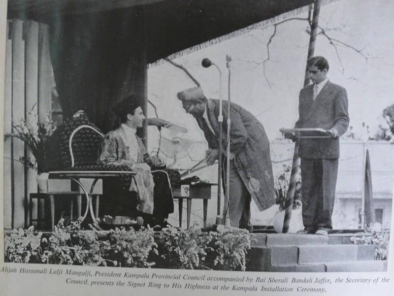 My father Sherali Bandali Jaffer at His Highness the Aga Khan's coronation in Kampala, Uganda in 1958.